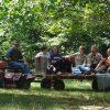 wagon,ride,Northwoods,Eagle River,family,fun,backyard,play,woods