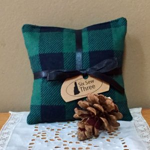 Green Buffalo Plaid Sachet
