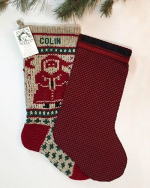 Red Christmas Stocking.New Annie S Woolens Stocking Liners