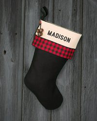 """Madison"" Personalized Christmas Stockings Lodge"
