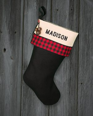 """Madison"" Personalized Christmas Stockings Lodge"