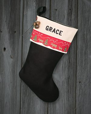 "Lodge Christmas Stocking ""Grace"" Personalized"