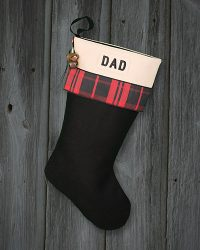 "Personalized Christmas Stocking ""Dad"""