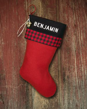 "Lodge Christmas Stockings Personalized ""Benjamin"""