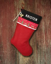 "Personalized ""Kristen"" Christmas Stockings"