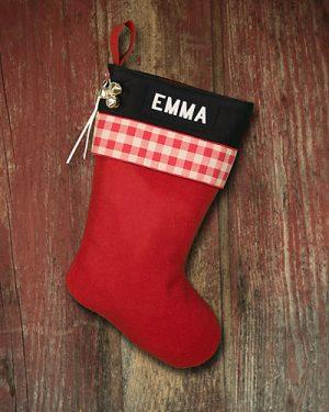 """Personalized """"Emma"""" Lodge-Style Stocking"""