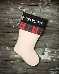 "Embroidered Personalized ""Charlotte"" Christmas Stocking"