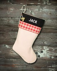 "Personalized ""Jack"" Lodge Christmas Stocking"