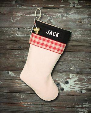 """Personalized """"Jack"""" Lodge Christmas Stocking"""