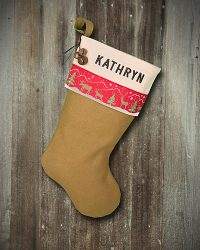"Lodge Personalized ""Kathryn"" Christmas Stocking"
