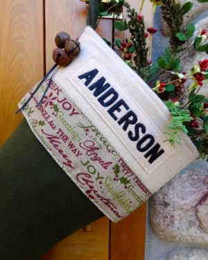 "Personalized ""Anderson"" Christmas Stocking"