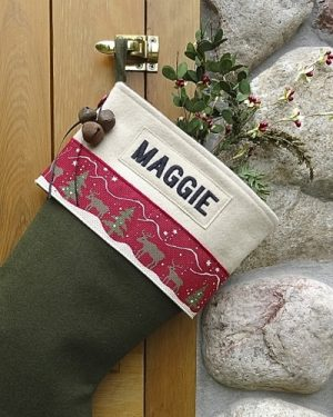 "Personalized ""Maggie"" Christmas Stocking"