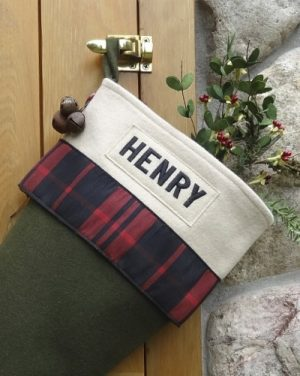 "Balsam ""Henry"" Personalized Lodge Christmas Stocking"