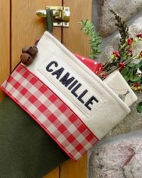 "Personalized ""Camille"" Christmas Stocking"