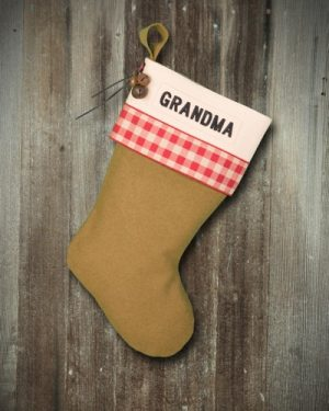 "Personalized Lodge ""Grandma"" Christmas Stocking"