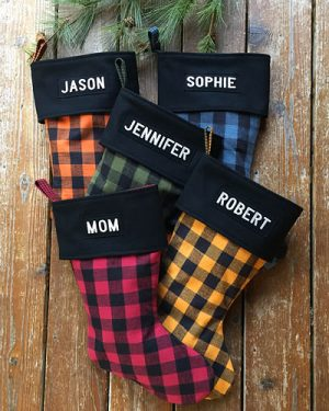 Plaid Set - Personalized Christmas Stockings