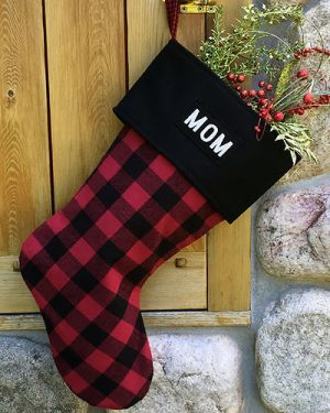Personalized Red Buffalo Plaid Christmas Stockings