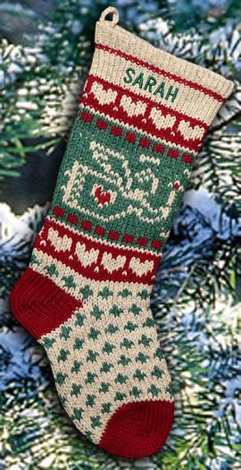 Candlelit Angel Personalized Christmas Stocking