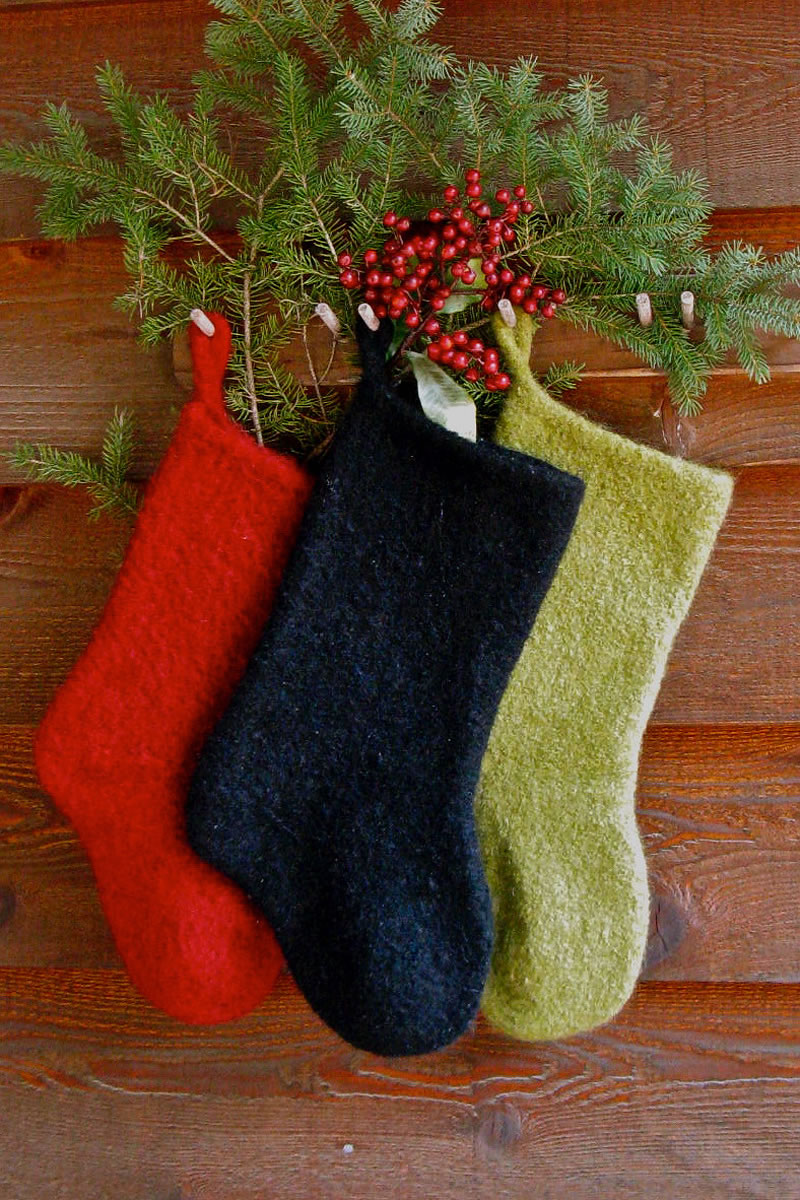 Felted Christmas Stocking Pattern - Annie's Woolens ...