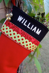 Glitz Personalized Christmas Stockings