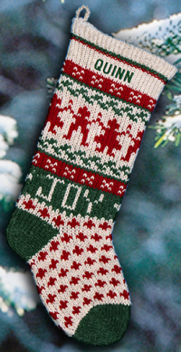 Joy/Green Personalized Christmas Stocking