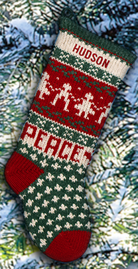 Peace Personalized Christmas Stocking