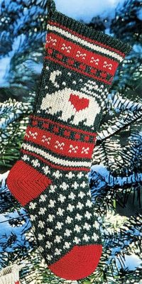 Bear Christmas Stocking Traditional
