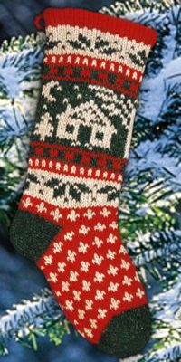 Cabin Christmas Stocking Traditional