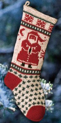 Santa Christmas Stocking by Annie's Woolens