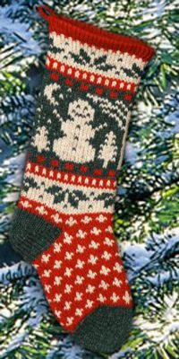 Snowman Christmas Stocking Scandinavian Traditional