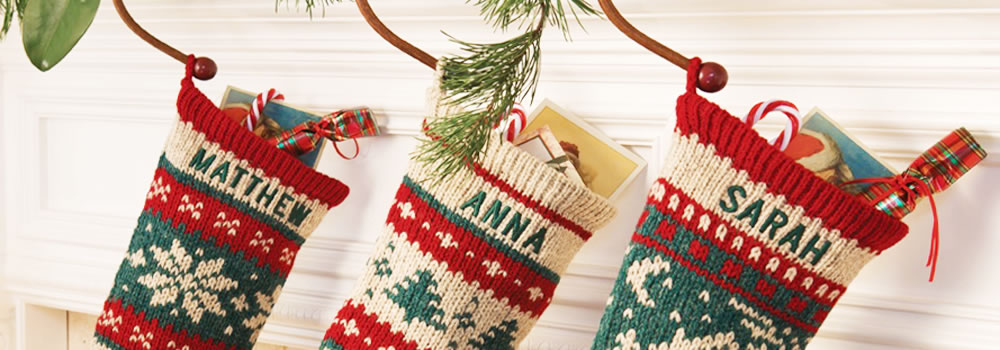 Knitted Christmas Stockings.Home Annie S Woolens Christmas Stockingsannie S Woolens