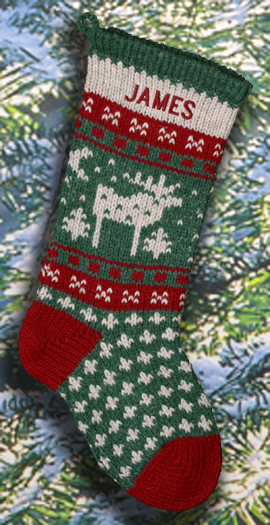 Moose Personalized Christmas Stockings