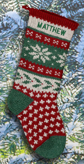 Holly Personalized Christmas Stocking