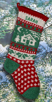 Cabin Personalized Christmas Stocking