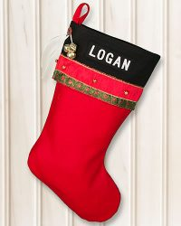 "Personalized ""LOGAN"" Glitz Christmas Stocking"