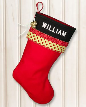 "Personalized ""WILLIAM"" Glitz Christmas Stocking"