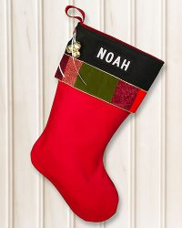"Personalized ""NOAH"" Glitz Christmas Stocking"