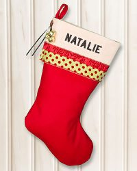 """NATALIE"" Personalized Christmas Stocking Glitz"