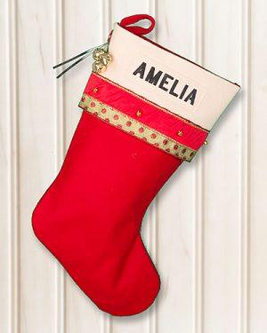 "Glitz Christmas Stockings Personalized ""AMELIA"""
