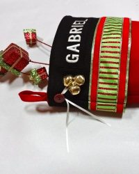 "Personalized Glitz Christmas Stocking ""GABRIEL"""