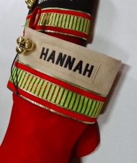 "Personalized ""HANNAH"" Christmas Stocking"