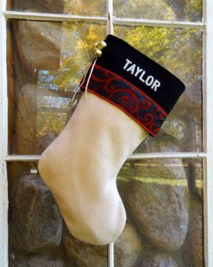 "Glitz Personalized ""TAYLOR"" Christmas Stocking"