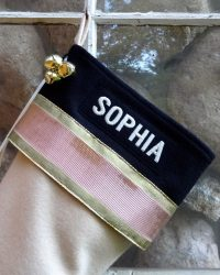 "Personalized ""SOPHIA"" Glitz Christmas Stockings"