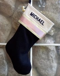 "Glitz ""MICHAEL"" Personalized Christmas Stocking"