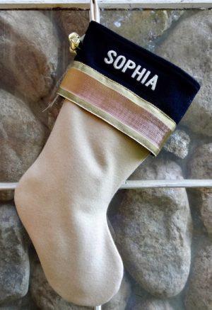 "Personalized ""Sophia"" Christmas Stocking"