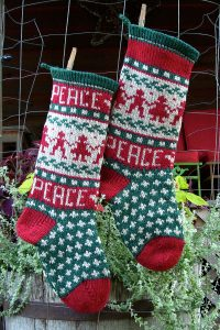 Peace Christmast Stocking Kits and Pattern