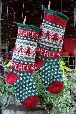 Peace Christmast Stocking Kits and Pattern