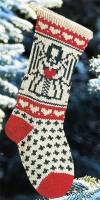 Traditional Angel Christmas Stocking
