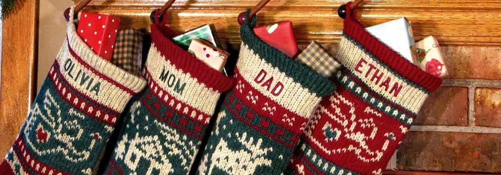 Scandi Style Handmade Mini Christmas Stocking Traditional Wool NEW