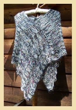 Ladder Poncho Knitting Pattern
